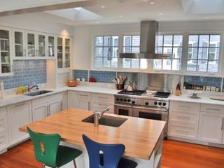Edgartown house photo - Chef's Kitchen Is Fully-Equipped With Marble Countertops, Stainless Appliances, Prep Island/Breakfast Bar