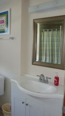 Sand Hill Cove house photo - Newly updated bathroom with tub/shower;