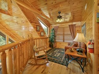 Pigeon Forge cabin photo - Loft overlooking Living Room and mountain w/sieeper