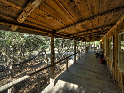 Fredericksburg cabin rental - Enjoy the Front Porch Swing