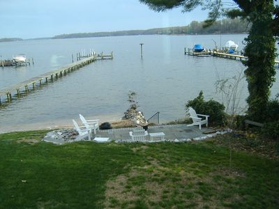 Annapolis, Severn River Waterfront with Sandy Beach, Pier & home