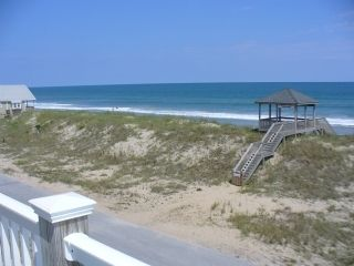 Surf City townhome photo - View from unit balcony shows Beach Access right in front of unit