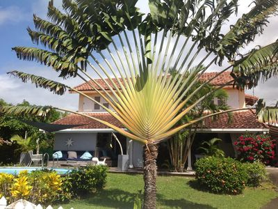 Beautiful Creole villa with garden view pool 300m from the beach at Sea
