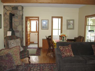 Boyne City house rental - Living room and a dinning room area.