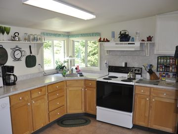 Fully outfitted kitchen with all the amenities.