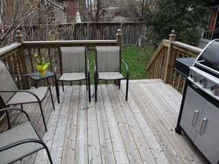 Toronto house photo - outdoor space, deck and garden