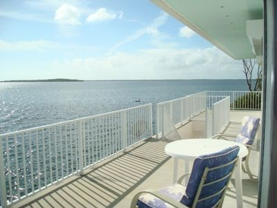 Beautiful openwater views from porch