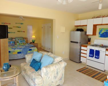 The Beach Suite is the 3rd bedroom & has a private downstairs entrance & balcony