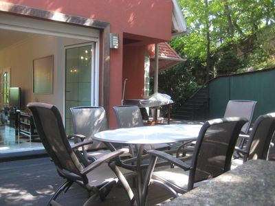 Budapest villa rental - terrace - living room