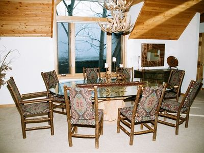 Dining Room & Antler Chandelier