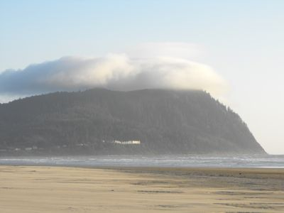 Fog/Clouds over Tillamook Head view to the South