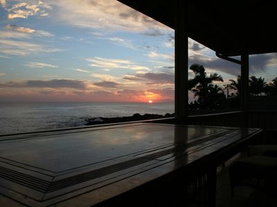 Watch sunsets from outdoor bar table - each night its a new experience!