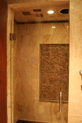 Solana Beach house photo - Two person luxury marble shower with 8 shower heads and music.