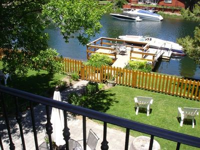 Tahoe Keys house rental - back yard boat dock