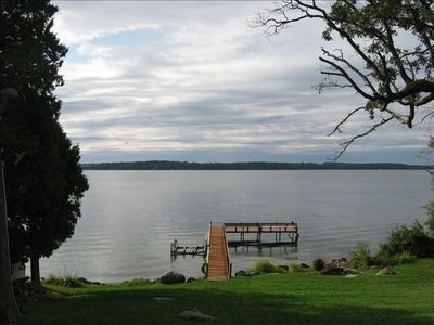 View of beautiful Green Lake from the house.  Private pier with boat launch.