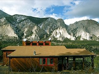 Nikki's cabin and the Chalk Cliffs