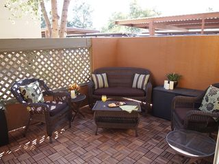 Old Town Scottsdale condo photo - Enjoy a cocktail on the outside patio lounging area.
