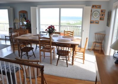 Dining room, with tide clock. Seats up to 10