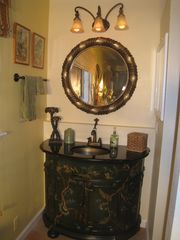 Marina del Rey condo photo - Master bath hand painted vanity