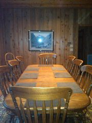 Greers Ferry Lake house photo - Dinning area - seating for 8 + high chair