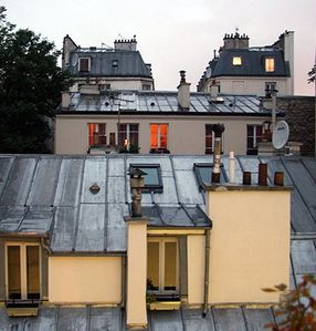 Paris Sweet 36' view from the bedroom window... ROOFS OF PARIS!