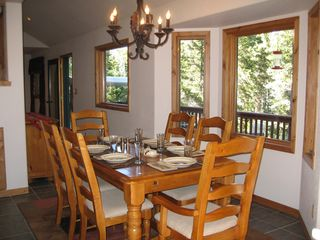 Blue River house photo - Enjoy the scenery outside from the dining area