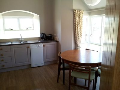 The Kitchen - with dining area and dishwasher