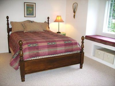 Guest Bedroom 1: Queen bed, plus a single bed