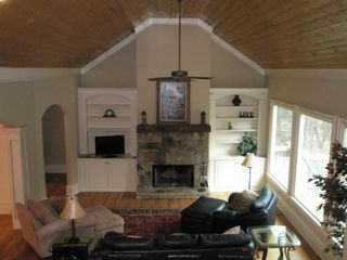 Big Canoe house photo - Great room with beautiful wood cathedral ceiling