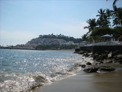 Lovely beach at Dolphin Cove, Manzanillo, Mexico