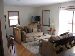 Roxbury house photo - Living area with flat screen TV