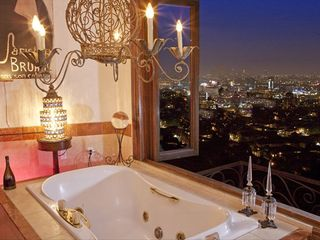 West Hollywood house photo - MasterBath with View