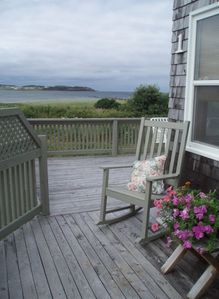 Wrap around deck, St. George's Bay with Port Hood Island in the distance