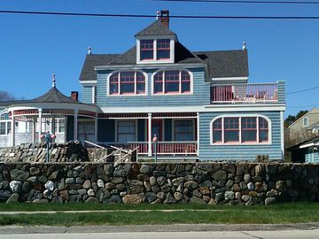 Kennebunk Beach house rental - Front of the House overlooking Mother's Beach in the afternoon sun