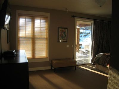 Big Sky townhome rental - Elegant and spacious master suite, comfy king bed