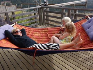 Jenner house photo - Outrageously comfortable hammock overlooking the view