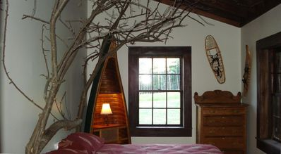 "One of the Guest Bedrooms- the ""Tree Room"""