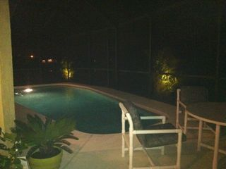Crescent Lakes villa photo - pool at night