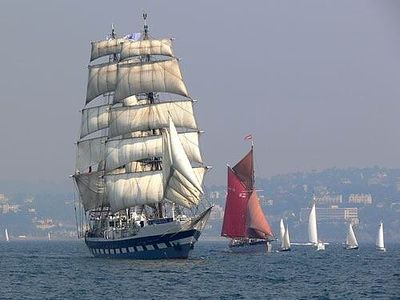 Brixham apartment rental - Tall ship