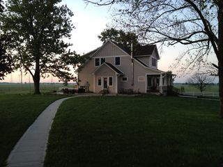 Greenfield farmhouse photo - Early morning at our Sustainable Farm. One of my favorite times.