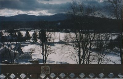 Stowe condo rental - Winter view from condo deck