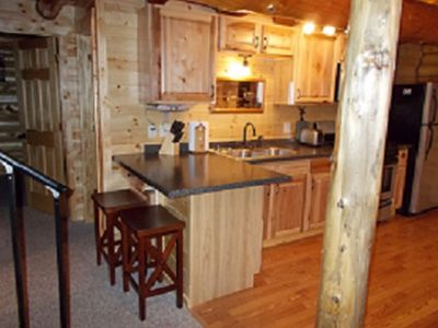 Marcell cabin rental - The kitchen has 2 seats at the counter too!