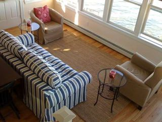 Harpswell cottage photo - Living room from above