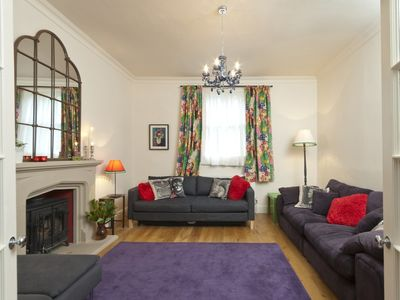 Bath & North East Somerset house rental - Living room through Kitchen doors