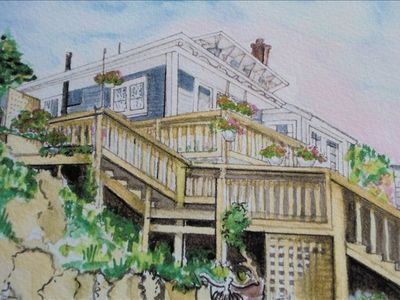 Gonzales Bay Beach House - An Artist's view