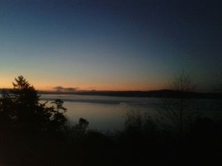 Camano Island house photo - Sunrise in January!