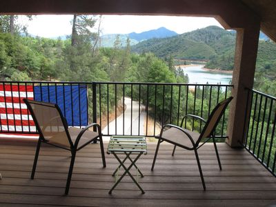 View from upstairs private balcony off bedroom