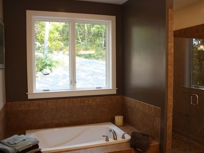 Master Bath soaking tub and walk in shower