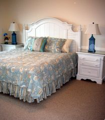 Isle of Palms condo photo - Master king bedroom ocean front view with patio door to deck - walkin closet -