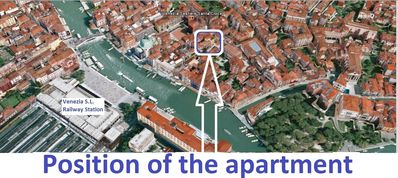 Residential flat in the historical centre of Venice, close to the train station. 2 Children free. WiFi